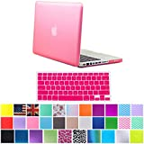 "HDE Frosted Matte Rubber Coated Hard Shell Clip Snap-On Case Cover for Macbook Pro 13"" (A1278) + Matching Keyboard Skin (Pink)"