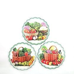 Fruit ceramic trivets set of 3