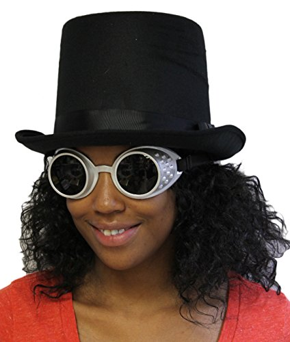 Costume-Acessory-Set-Unisex-Adult-Steampunk-Top-Hat-and-Goggles-Set