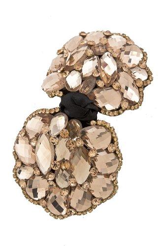 Trendy Fashion Jewelry Briolette Bow Hair Clip By Fashion Destination   (Peach)