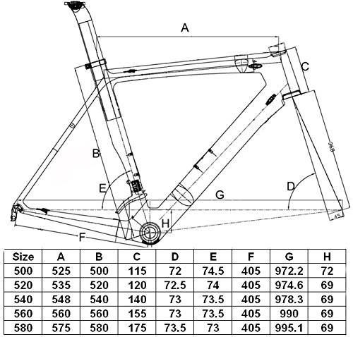 Carbon Matt Road Bike Frameset ( FOR BSA ) : 54cm Frame Fork Seatpost Clamp sitemap 12 xml