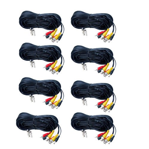 Cowgirlerr Videosecu 8 Pack 100ft Feet Bnc Rca Video