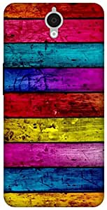 The Racoon Lean Pastel Wood hard plastic printed back case for Alcatel Onetouch Idol X Plus 6043D