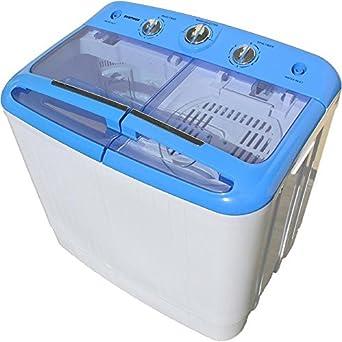 Syntrox Germany Machine à laver de camping avec pompe et essoreuse, petit format, A +, 5,2kg