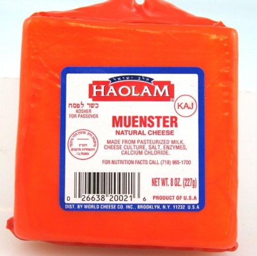 Haolam - Cholov Yisroel Muenster Natural Cheese Blocks (8 oz.) - 6 Pack