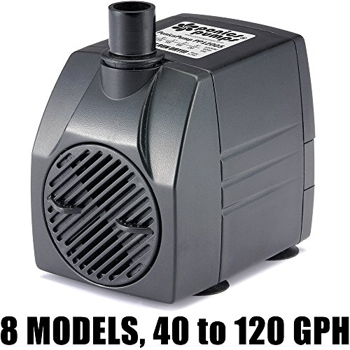 PonicsPump PP12005: 120 GPH Submersible Pump with 5' Cord - 6W... for Fountains, Statuary, Aquariums & more. Comes with 1 year limited warranty.