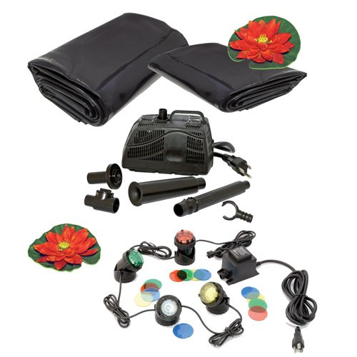 Koolatron KSPK-700G 700-Gallon Pond Kit with Lighting