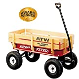 All Terrain Steel & Wood Wagon Ride On, Wagon For Kids