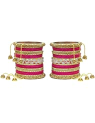 MUCH MORE Ethnic Collection Charming Bangles With Zircons Made Kada For Women Wedding Jewelry - B01KVMSLO8