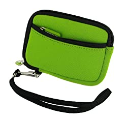 rooCASE (ECO Green) SLV2 Neoprene Sleeve Carrying Case for Kodak ZxD Pocket Video Camera HD Camcorder