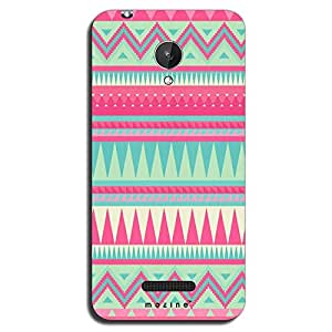 Mozine Pink Tribal Pattern printed mobile back cover for Micromax canvas spark
