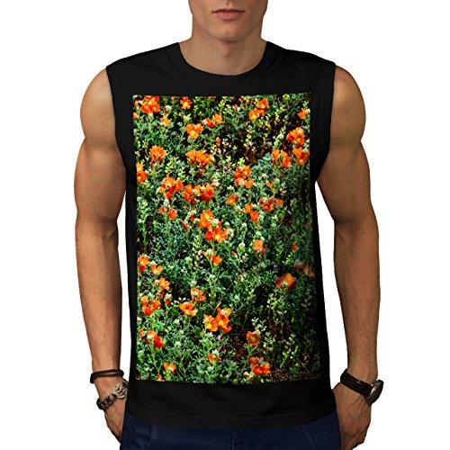 Giardino Di Fiori verde Natura Uomo Nuovo Nero S T-Shirt Senza Maniche | Wellcoda