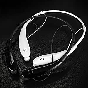 Actpe Wireless Bluetooth V4.0 Music Stereo Universal Headset Headphone Earphone Neckband Style for Apple iPhone 6 Plus, iPhone 6G, iPhone 5S, 5C, 5G, iPhone 4S, 4G; Samsung galaxy s5, s4, s3, samsung note edge, Samsung Note 4, Note III, Note 2; Sony xperia z3, z2, z, Sony Xperia E C1604, C1504, LG G4, LG G3, G2; HTC desire 510, HTC One M8, M7, iPod, iPod Touch, iPad Air, iPad Mini, Tablet PC - Hands-free, Black