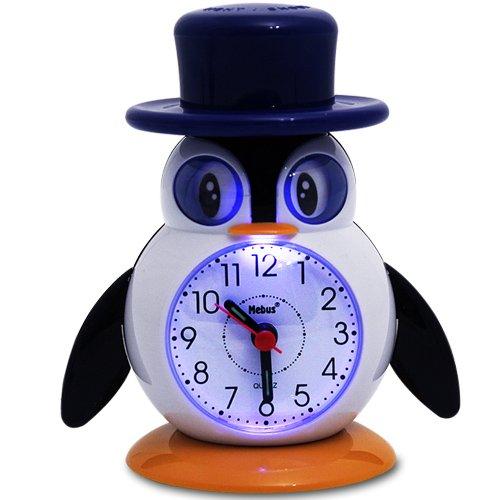 Kinderwecker – Wecker – Reisewecker – Uhr wahlweise Pinguin oder Eule (Pinguin) bestellen