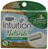 Schick Intuition Naturals Sensitive Care Razor Refill, 6-Count