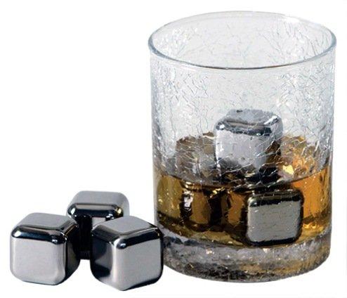 ステンレススチール アイスキューブ (永久氷) 4個Set 【並行輸入品】
