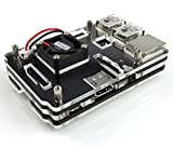 Eleduino Raspberry Pi 2 Model B アクリル ケース ブラック Black +MINI  ファン パッケージ