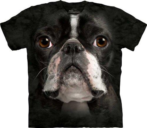 The Mountain Boston Terrier Face T-shirt