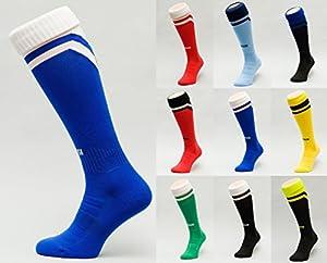 """Fußballstutzen Frußballsocken Fußballstrümpfe Sportsocken Socken Strümpfe Stutzen 100% Thermoaktiv Typ """"S"""" blau-weiß Gr. 27-31"""