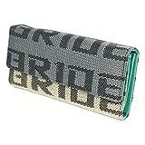 Kei Project Bride Racing Seat Women Lady Wallet Purse Fabric Leather Gradation Bonus Takata Key Strap (Mint Teal)