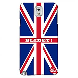 Blimey ! Union Jack British Flag - Nutcase Designer Samsung galaxy N3 Case Cover