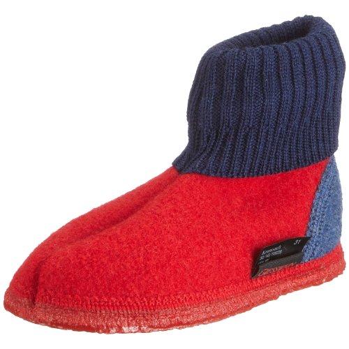 Giesswein Kramsach 32-10-10035 - Zapatillas de casa de tela para niños, Rojo (Rot (feuer 312)), 38