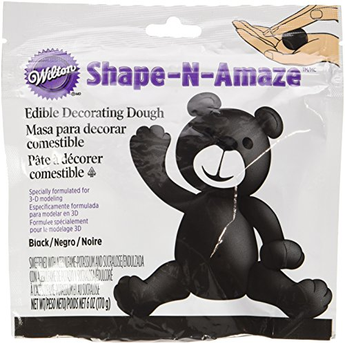 Wilton 707-161 Shape-N-Amaze Edible Decorating Dough, Black (Edible Dough compare prices)
