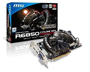 MSI Cyclone AMD Radeon HD R6850 Graphics Card (1 GB, PCI Express 2.1, HDMI DisplayPort, DVI Power Edition)