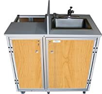 Hot Sale Monsam PRO-01 Propane Powered Self Contained Portable Sink, Maple