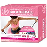 Gaiam Pink Med-Total Body Balanceball Kit (65Cm/Pink)