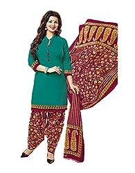 Aarvi Women's Cotton Unstiched Dress Material Multicolor -CV00083
