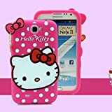 Go Crazzy Hello Kitty Soft Silicone Snap On Case For Samsung Galaxy Note 2 N7100 (HOT PINK)