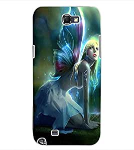 ColourCraft Beautiful Angel Design Back Case Cover for SAMSUNG GALAXY NOTE 2 N7100