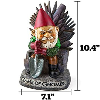 """BigMouth Inc """"Game of Gnomes"""" Garden Gnome Statue, Hand Painted Ceramic Game of Thrones Sculpture for Garden or Desk, 9.5""""Tall"""