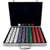 Trademark 1000 13 Gm Pro Clay Casino Chips with Aluminum Case (Silver)