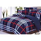 WRAP 100% PREMIUM QUALITY REVERSIBLE DOUBLE BED 4PC COMFORTER SET SMC-01