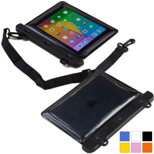 Cooper Cases(TM) Voda Prestigio MultiPad 8.0 Pro Duo / Thunder 7.0i Wasserdichte Tablethülle in Schwarz (Leicht, berührungsempfindliches Sichtfenster, verstellbarer Schultergurt)