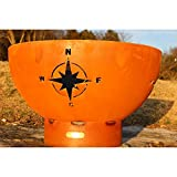 Fire Pit Art - Navigator Artistic Style Fire Pit With Chanasya Polish Cloth Bundle