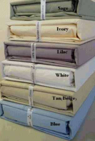 Metro 600Tc Percale Solid Bed Sheet Set (Tan) Queen Sold By Vanessa Classic.