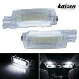 Kaizen 2 Pcs OEM Fit Super Bright LED Vanity Mirror LED Light Lamps 18 Pieces of Premium Quality 1210-SMD LED Chipsets In It For Volkswagen Golf GTi EOS Jetta Passat Touran CAN-bus Error Free Color Temperature 6000K Color Xenon White