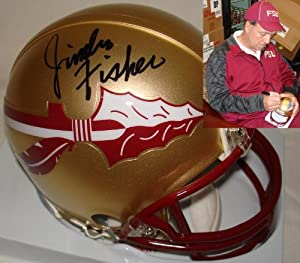 Jimbo Fisher Hand Signed Autographed Florida State Seminoles Mini Helmet FSU -...