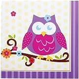 Owl Blossom Lunch Napkins (16)