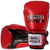 Boxhandschuhe Kunstleder 10 12 14 16 oz Schwarz Weiß Rot