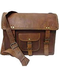 Pranjals House Stylish Genuine Leather Vintage Shoulder Messenge Ipad Bag Size L (11) H (9) W (3) For Unisex