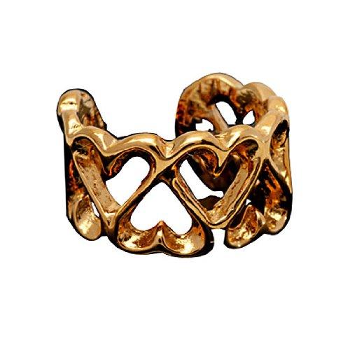 Single Gold Vermeil Pierceless Open Heart Band Ear Cuff