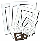 Inovart Picture-It White Pre-Cut Art Frames In Bulk