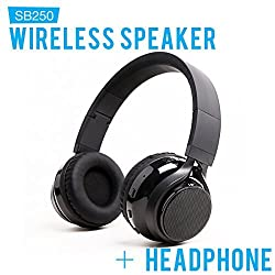 SoundBot SB250 Wireless/Wired Bluetooth 3.0 Headset for Music Streaming & HandsFree Calling for 12 Hours of Talk Time 540 Hours of Standby Time w/ MicroUSB Charging Port & Cable