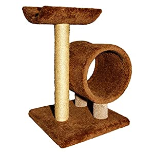 Two Tier Cat Scratching Post and Tunnel Blue