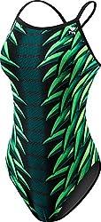 Tyr Warbird Diamondfit Polyester Swimsuit, Women's Size 26 (Green)