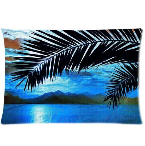 amxstore-cotton-polyester-decorative-throw-pillow-cover-cushion-case-pillow-caseone-side-siding-palm
